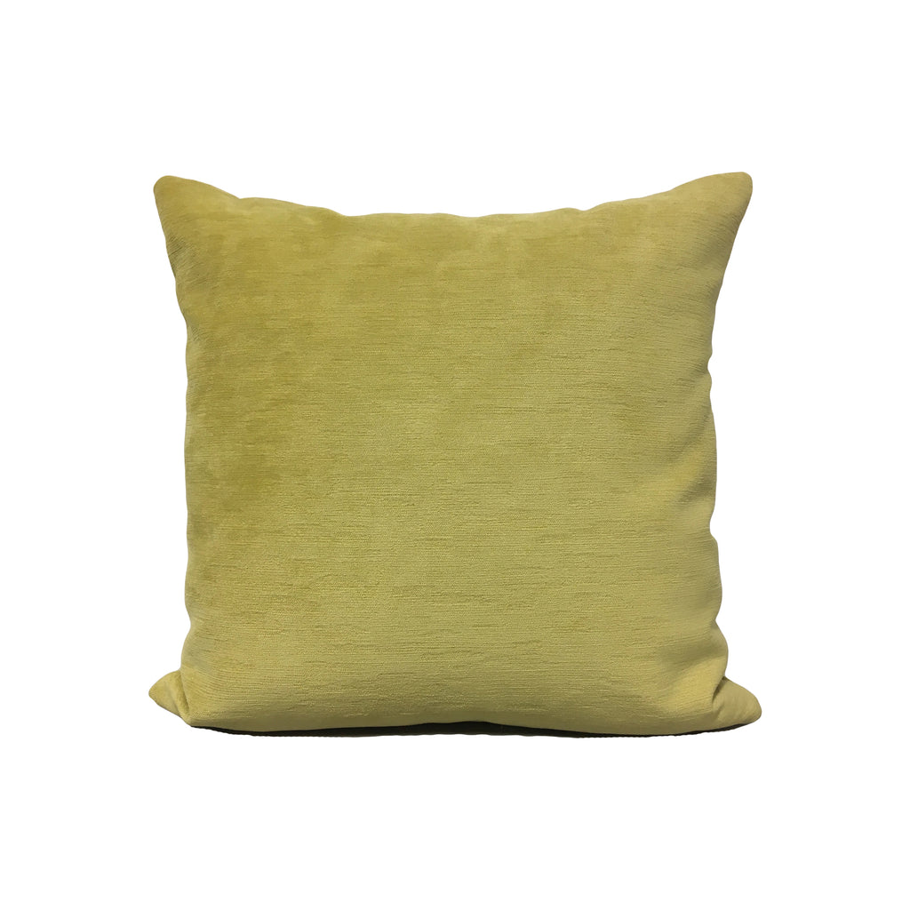Intrigue Chartreuse Throw Pillow 17x17""