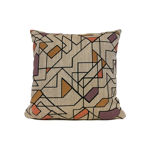 Junction Spumoni Geometric Throw Pillow 17x17""