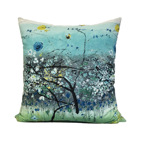 Kaguyaa Blue Throw Pillow 20x20""