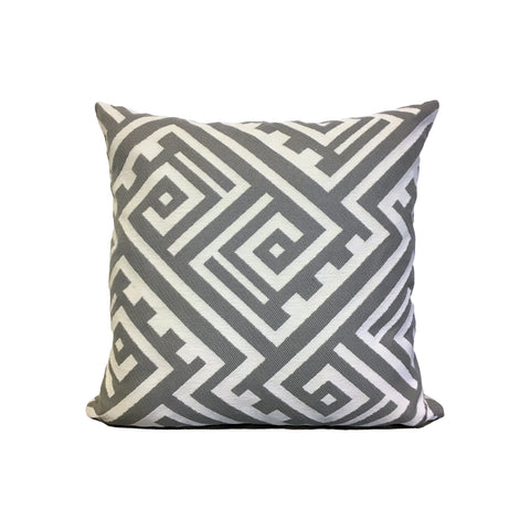 Keywest Silver Throw Pillow 17x17""