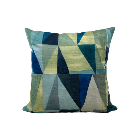 Klee Blue Throw Pillow 17x17""