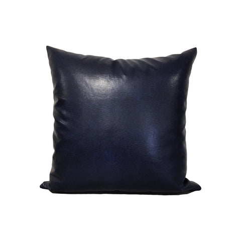 Leather Denim Throw Pillow 17x17""
