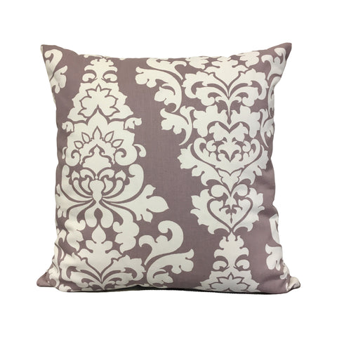 Lilac Damask Throw Pillow 20x20""