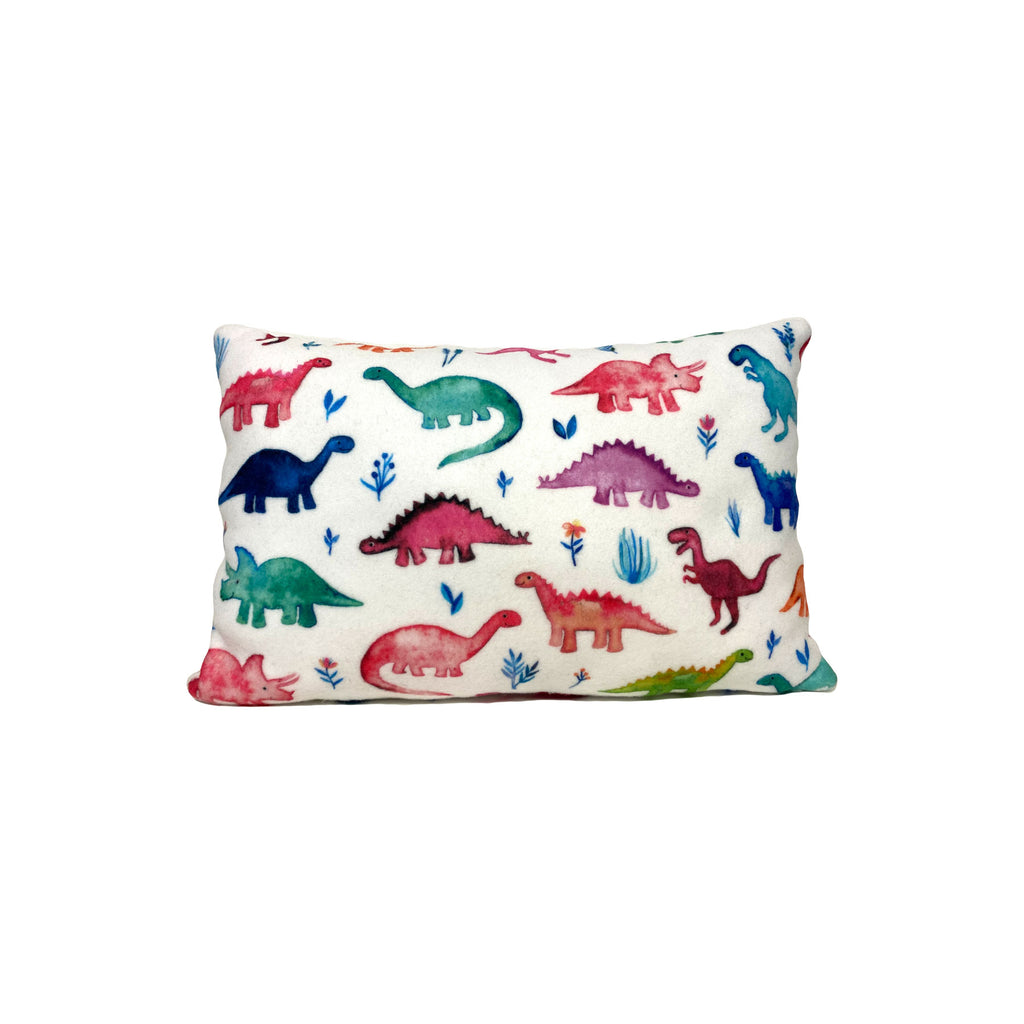 Little Dinos Multi Fleece Kids Pillow 8x13""