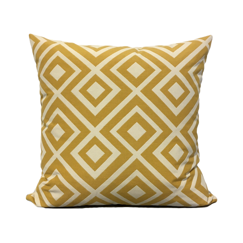 Lodi Lemon Yellow Throw Pillow 20x20""