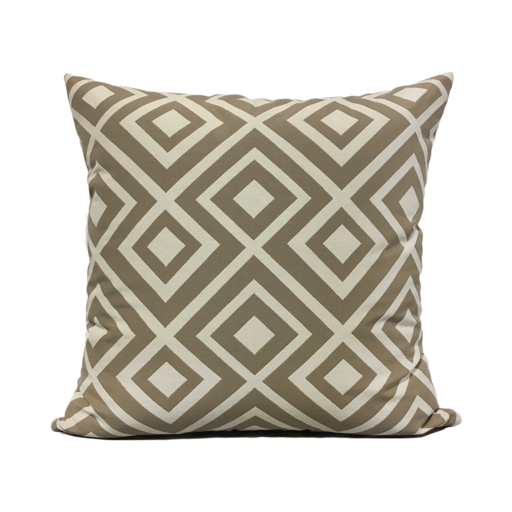 Lodi Linen Geometric Throw Pillow 20x20""