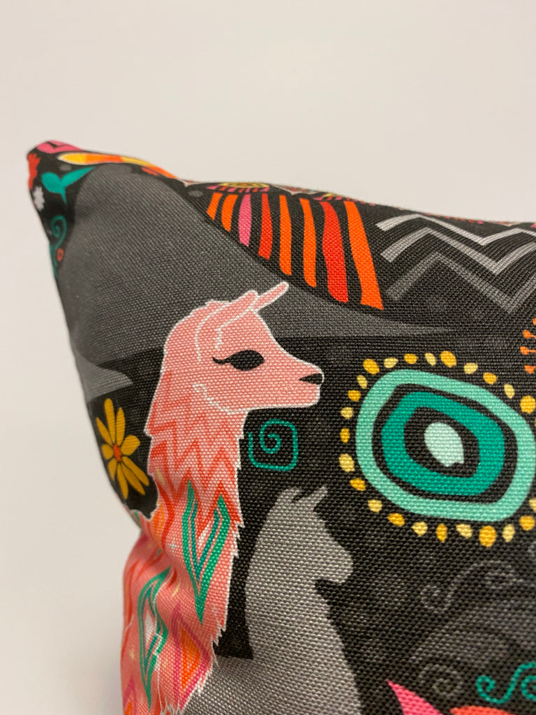 Lovely Llama Throw Pillow 17x17""