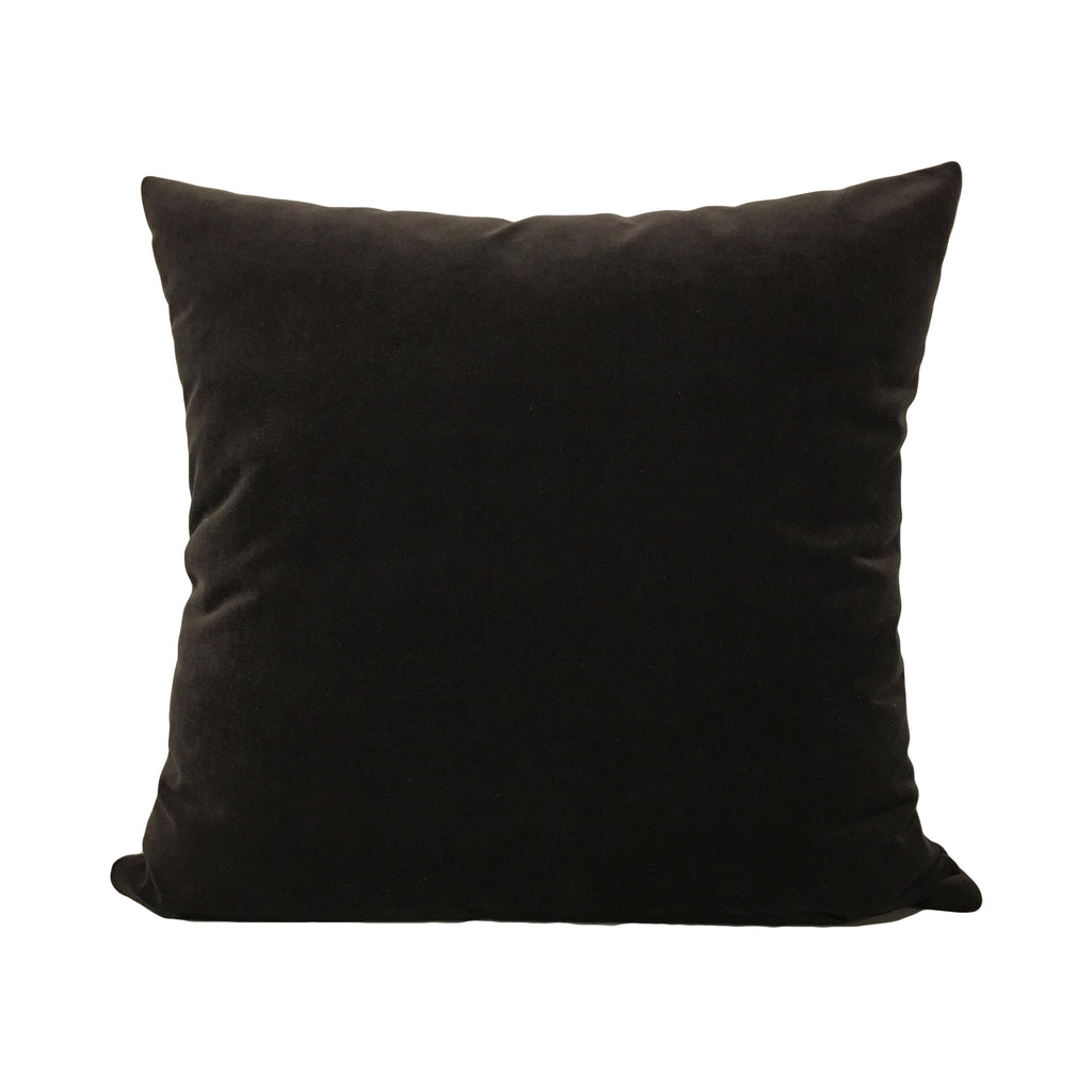Luscious Velvet Toblerone Black Throw Pillow 20x20""