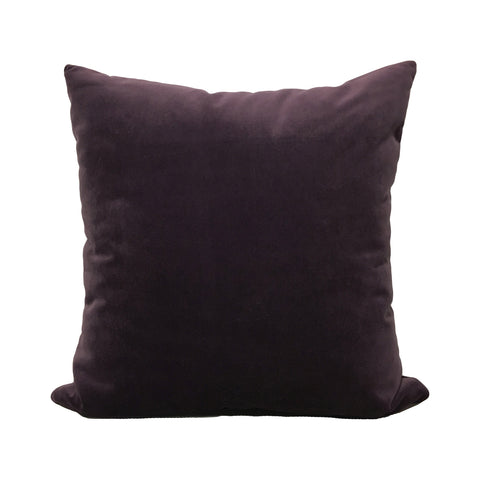 Luscious Velvet Deep Purple Throw Pillow 20x20""
