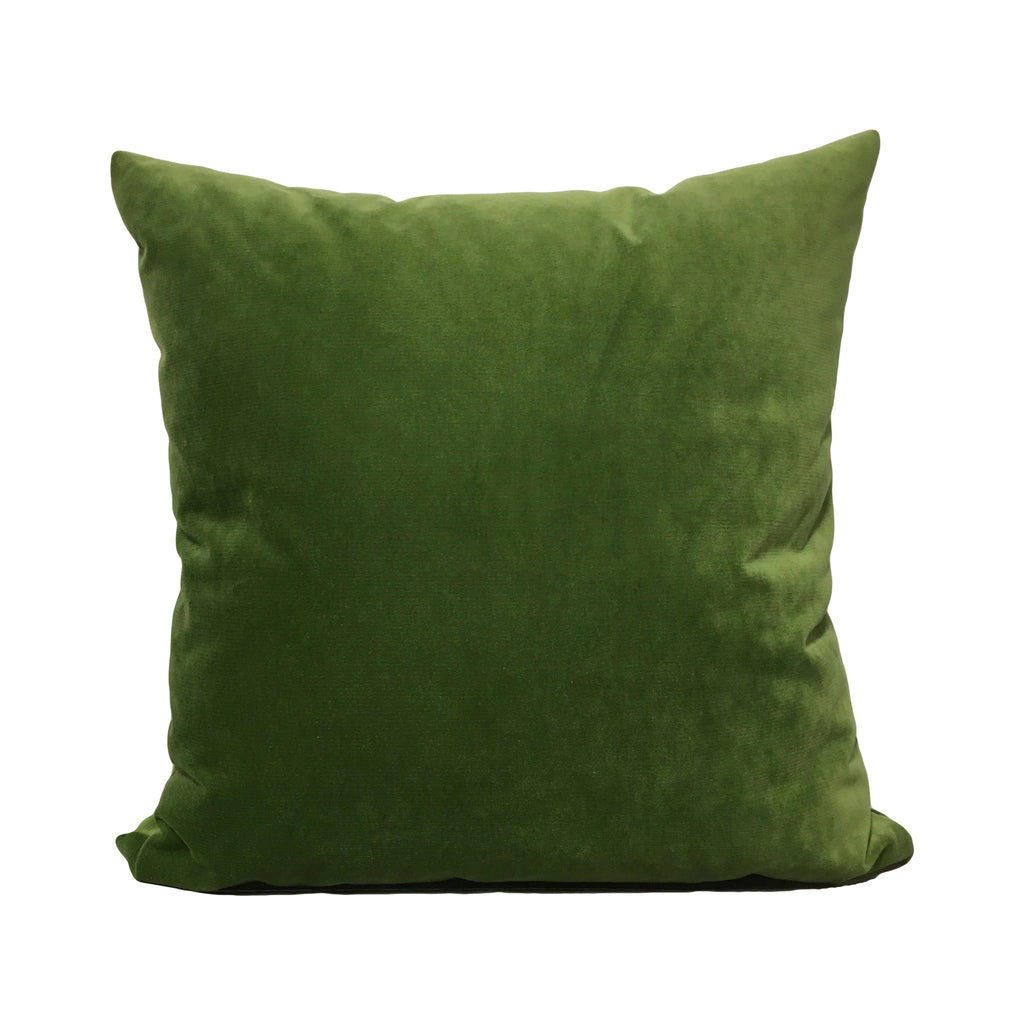 Luscious Velvet Loden Throw Pillow 20x20""