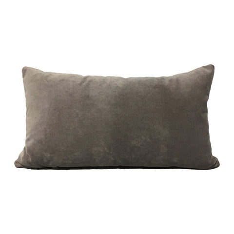 Luscious Velvet Smoke Lumbar Pillow 12x22""