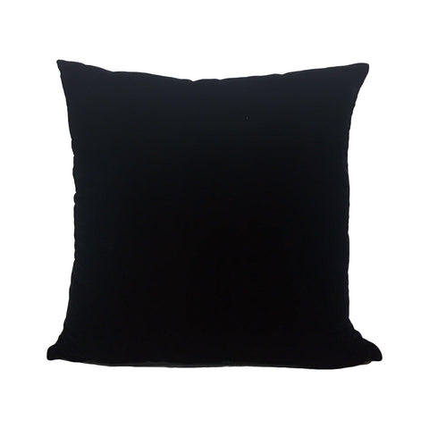 Lux Velvet Black Throw Pillow 20x20""