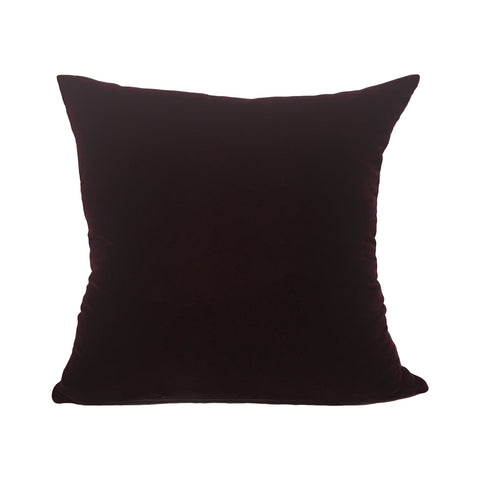Lux Velvet Merlot Throw Pillow 20x20""