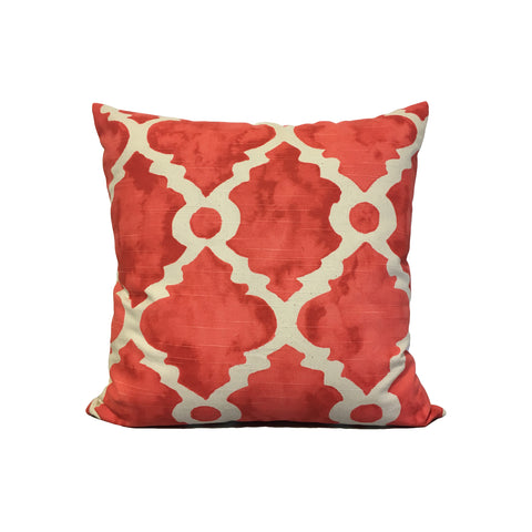 Madrid Slub Salmon Throw Pillow 17x17""