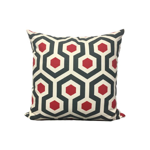 Magna Timberwolf Honeycomb Throw Pillow 17x17""
