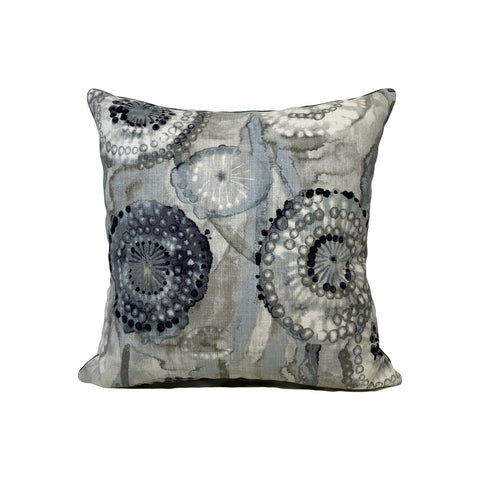 Majorca Smoke Throw Pillow 17x17""