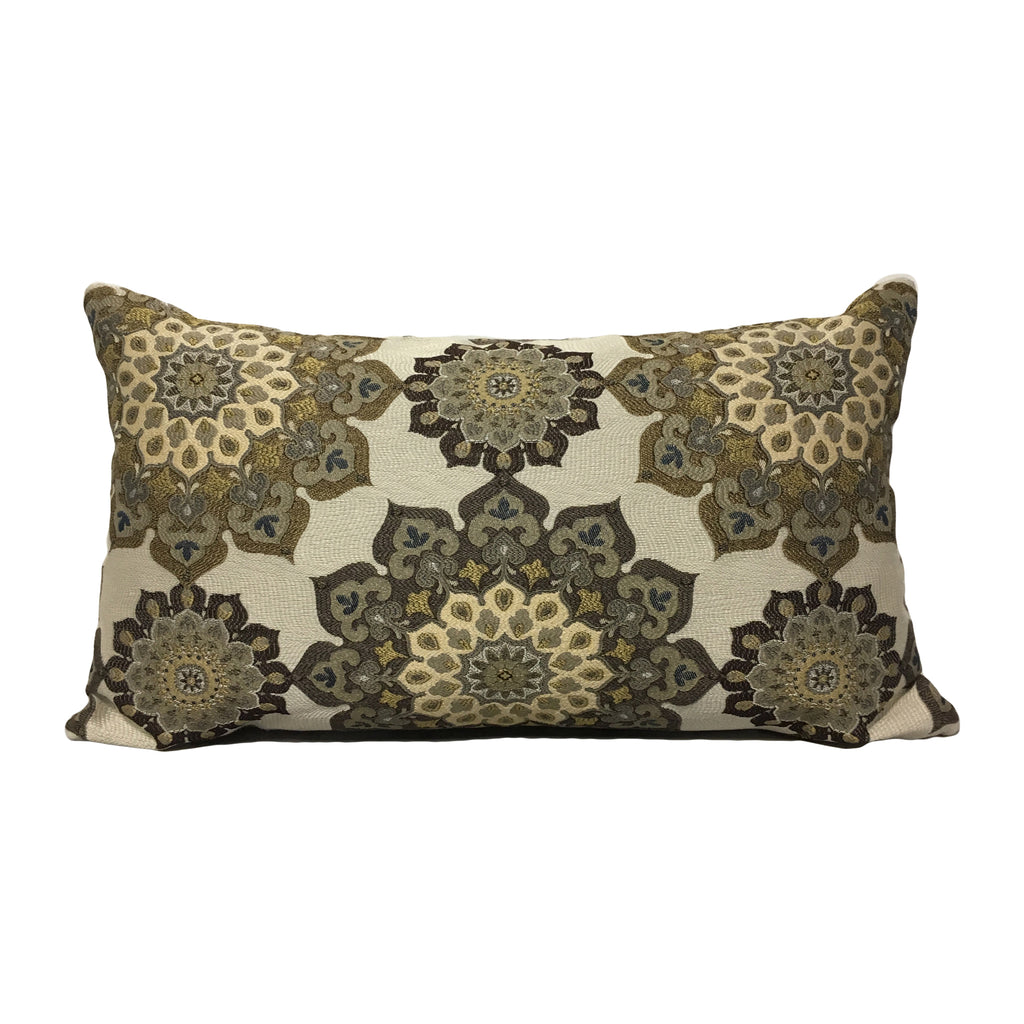 Majorica Earthen Lumbar Pillow 12x22""