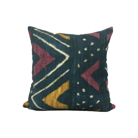 Mali Mudcloth Calypso Throw Pillow 17x17""