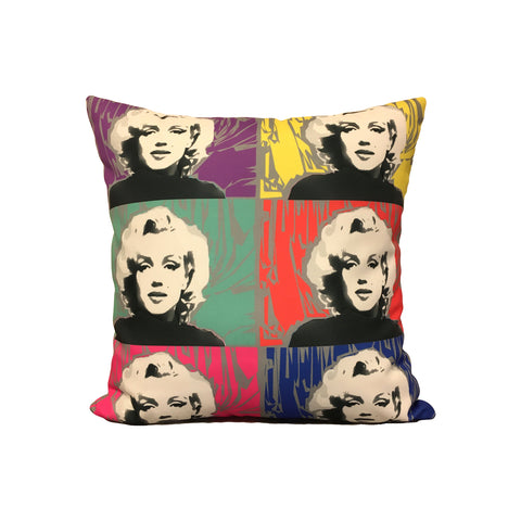 Sassy Marilyn Pop Art Throw Pillow 17x17