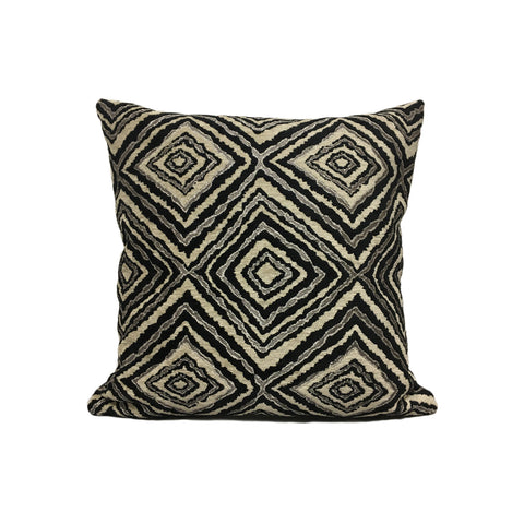 Marquee Abstract Black Throw Pillow 17x17
