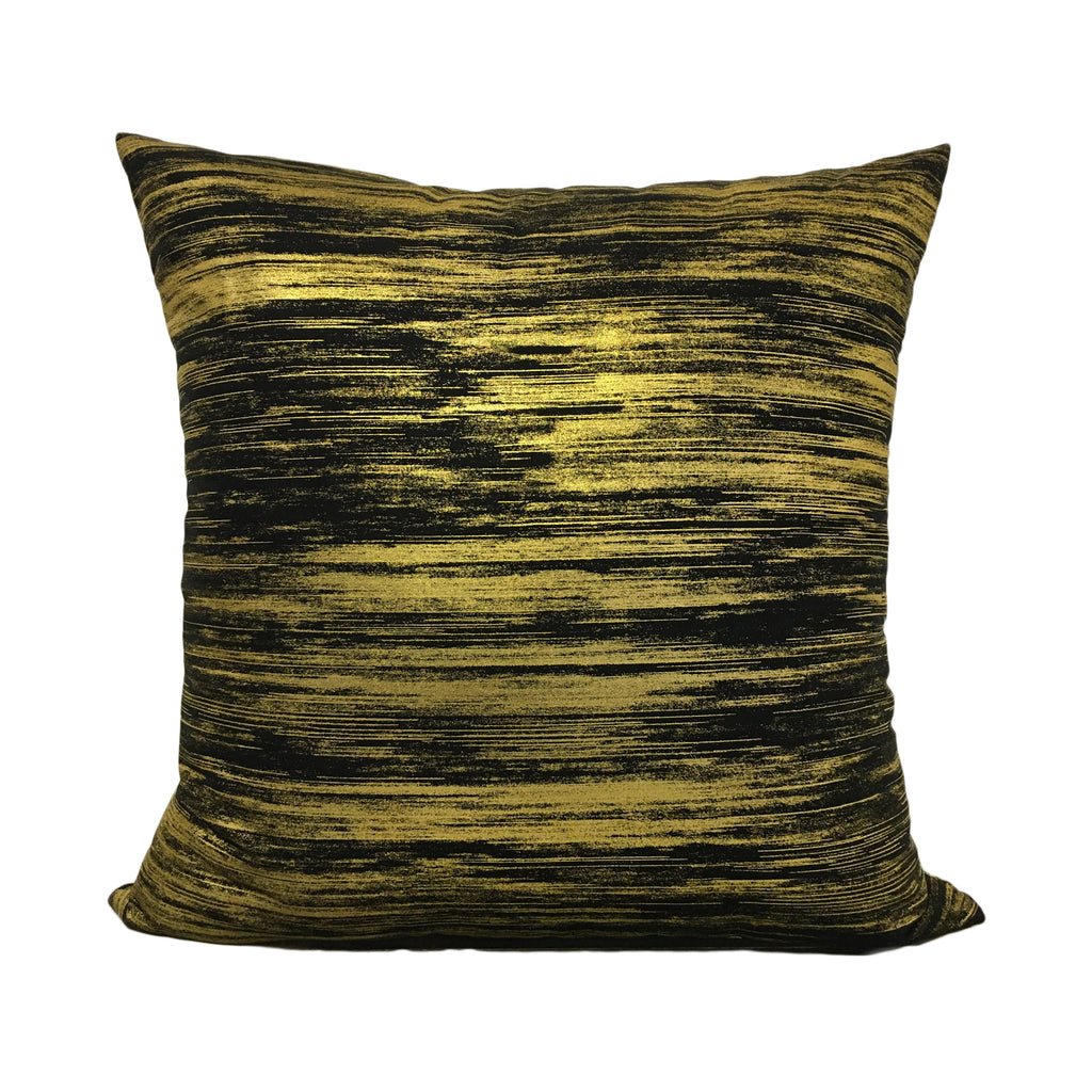 Metallic Mixer Gold Throw Pillow 20x20""