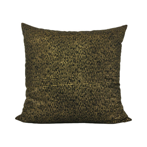 Metallic Mesh Gold Throw Pillow 20x20""