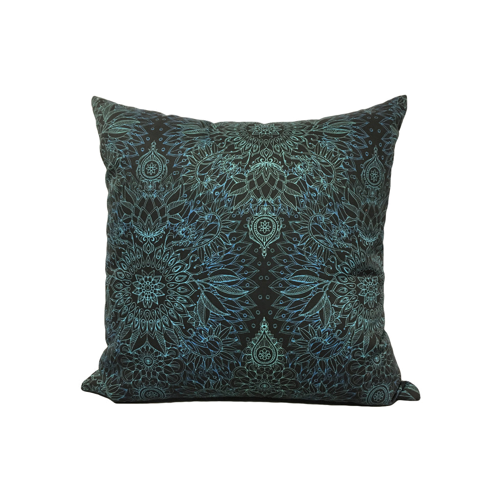 Midnight Teal Throw Pillow 17x17""