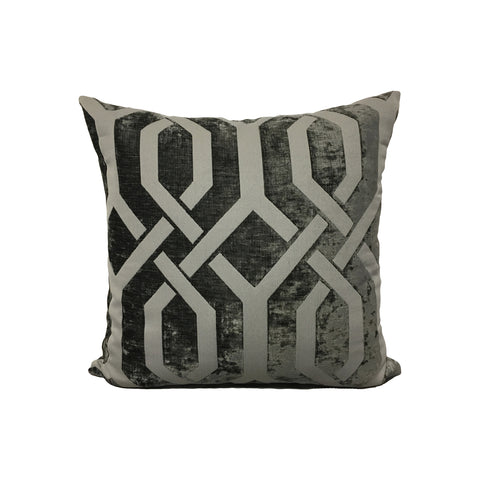 Monterey Gate Graphite Throw Pillow 17x17""