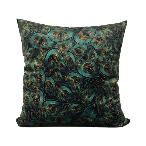 Morgan Peacock Feather Throw Pillow 20x20""