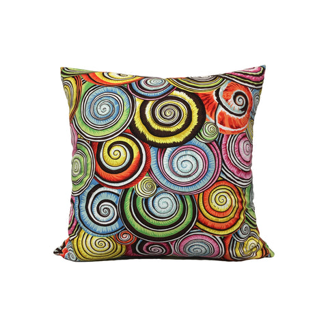 Multi Spiral Shells Throw Pillow 17x17""