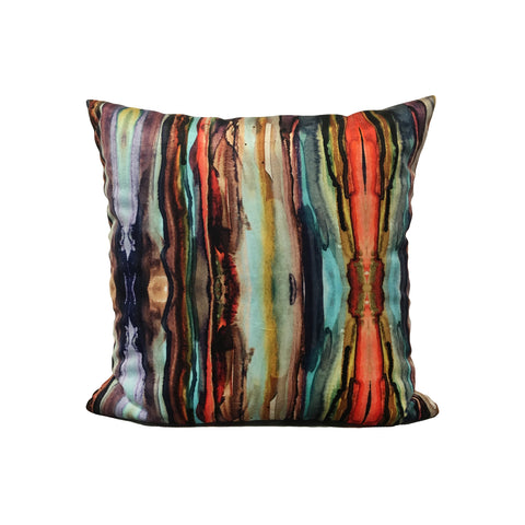 Native Drips Throw Pillow 17x17""