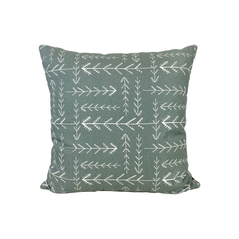Native Sundown Grey Throw Pillow 17x17""