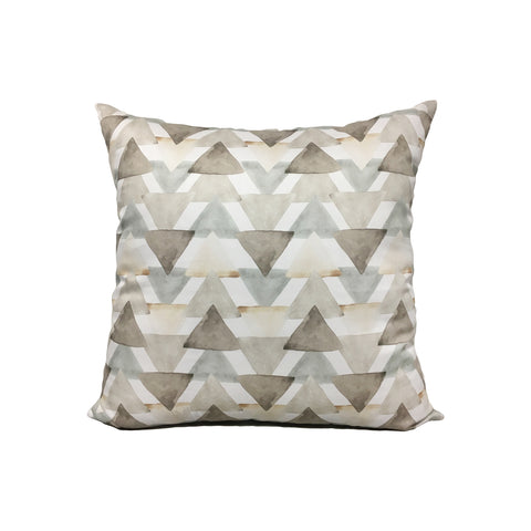 Neutral Watercolour Triangles Throw Pillow 17x17""