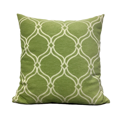 Oasis Lime Green Geometric Throw Pillow 20x20""