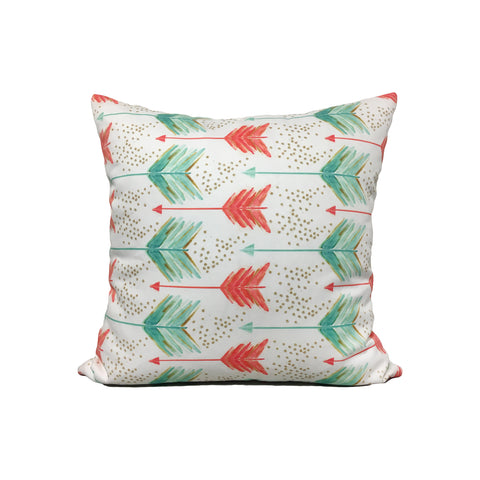 Painted Arrows Throw Pillow 17x17""