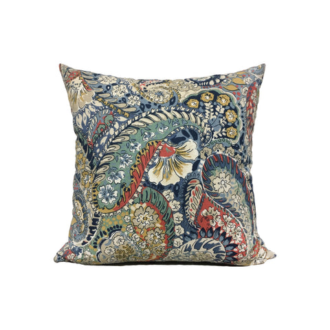 Paisley Porcelain Throw Pillow 17x17""