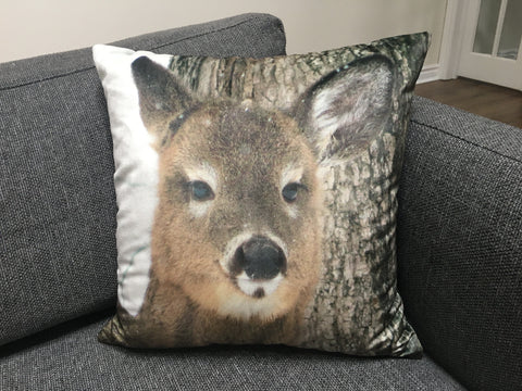 Custom Photo Throw Pillow - Velvet 17x17""