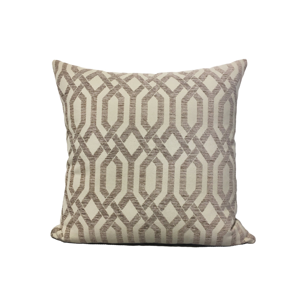 Panatis Putty Throw Pillow 17x17""