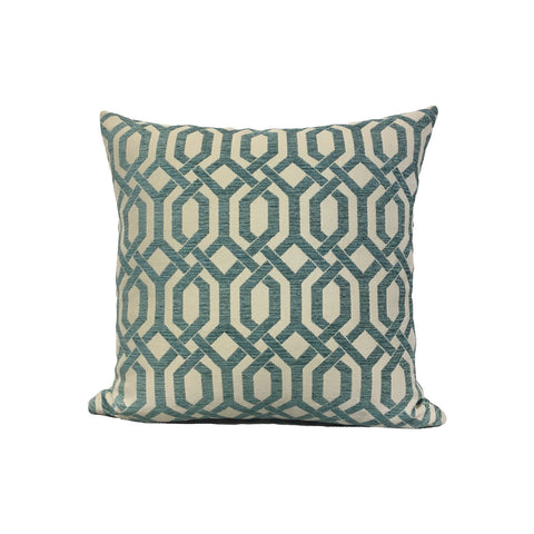 Panatis Turquoise Throw Pillow 17x17""