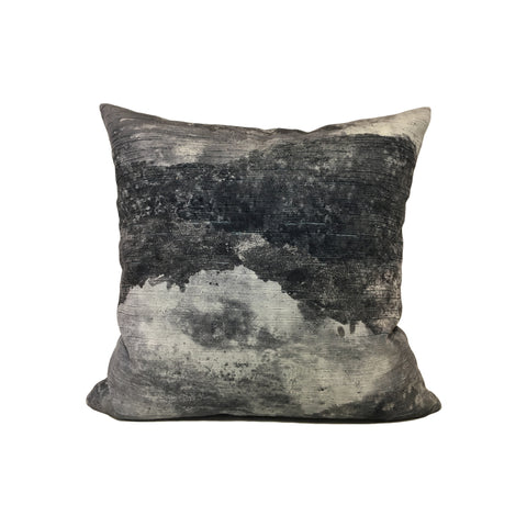 Panorama Storm Grey Throw Pillow 17x17""