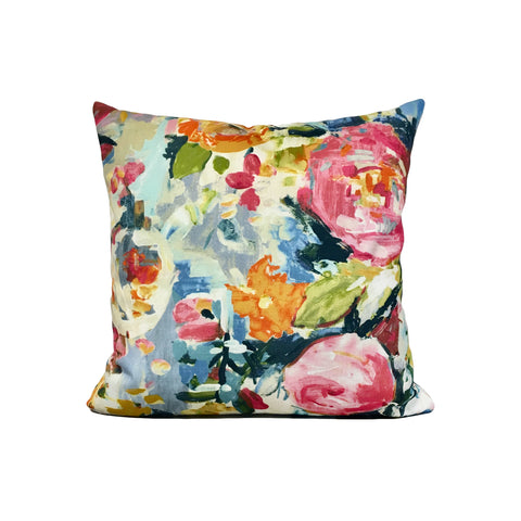 Petal Hand Painted Throw Pillow 17x17""