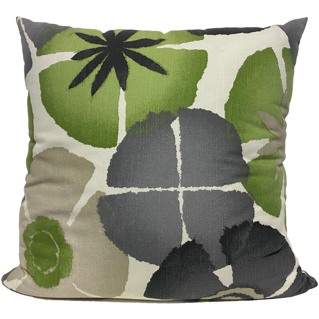 Petals Green Euro Pillow 25x25""