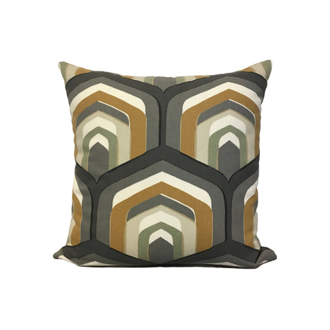 Piston Geo Amber Throw Pillow 17x17""