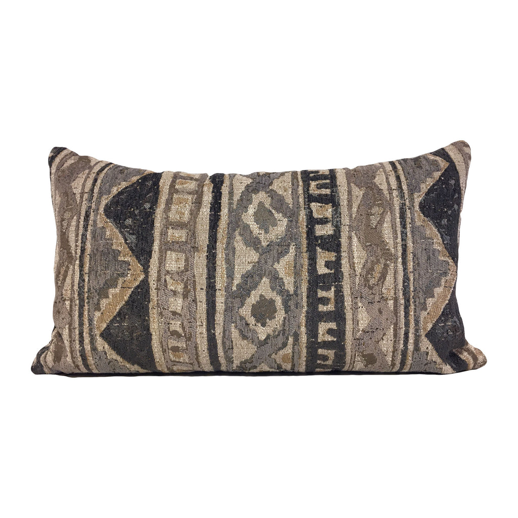 Plateau Grey Lumbar Pillow 12x22""