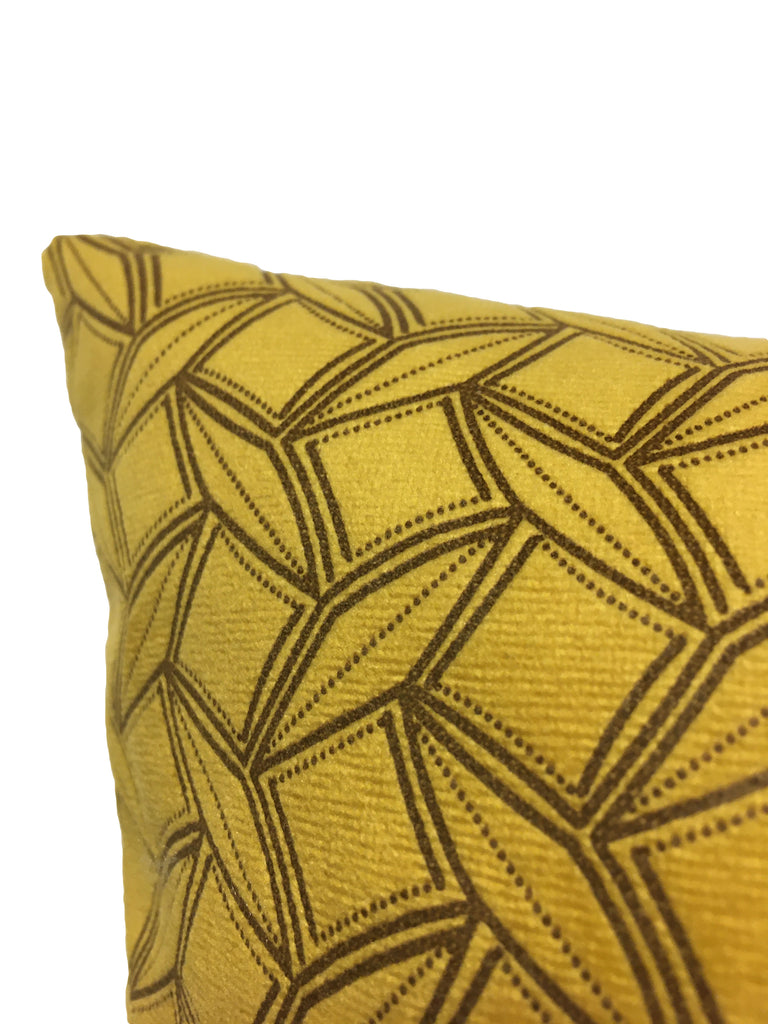Prism Mustard Yellow Throw Pillow 20x20""