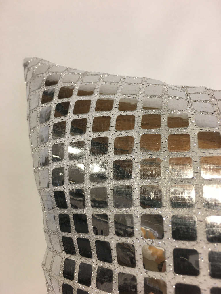 Quad Silver Reflective Throw Pillow 20x20""