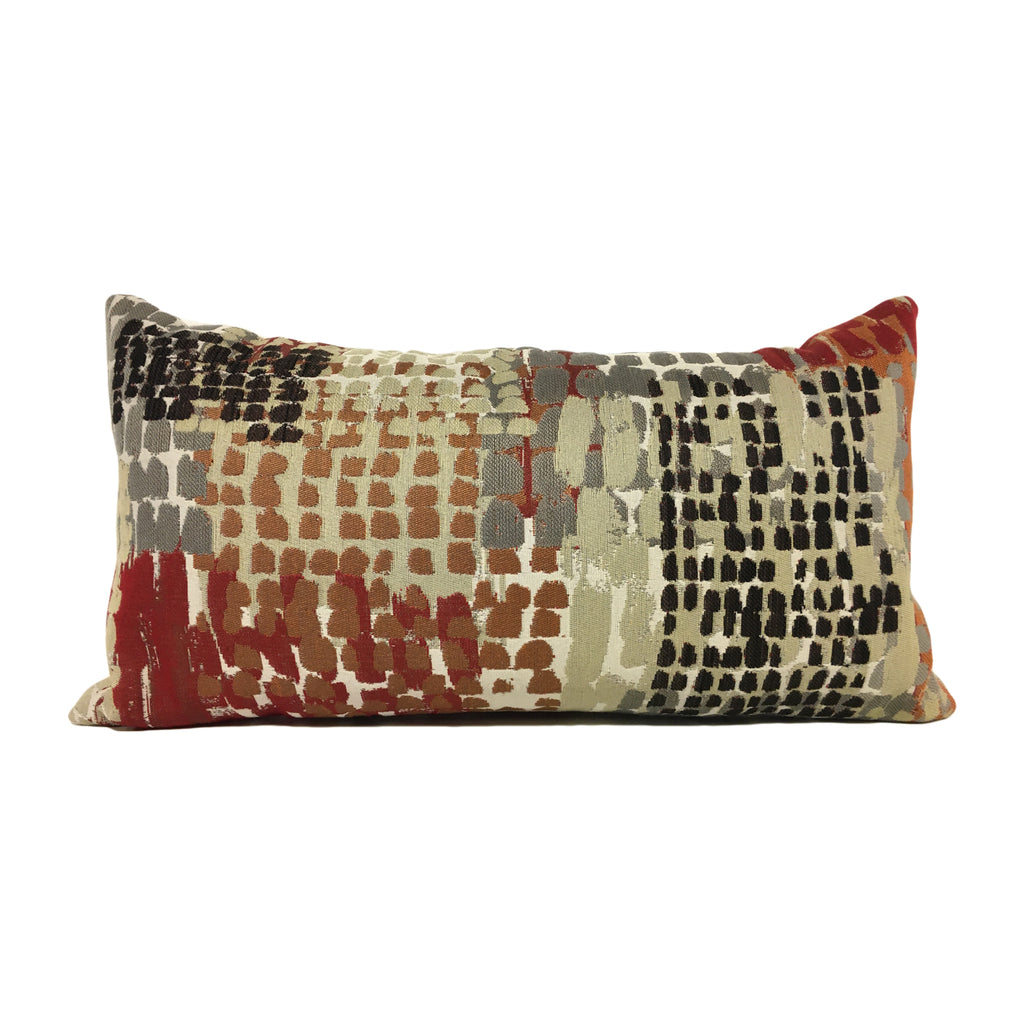 Quest Cinder Abstract Lumbar Pillow 12x22""
