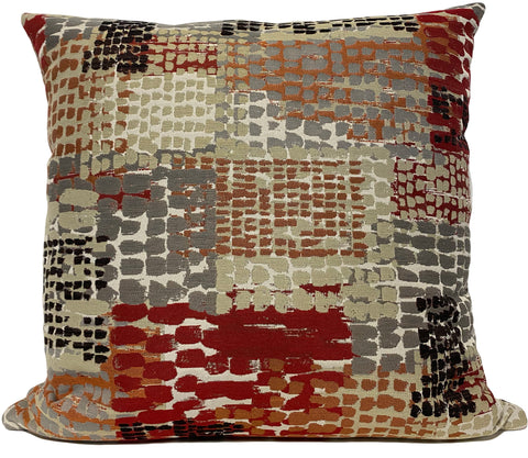 Quest Cinder Abstract Euro Pillow 25x25""