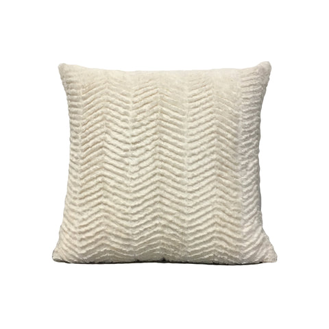 Rabbit Zig-Zag Throw Pillow 17x17""