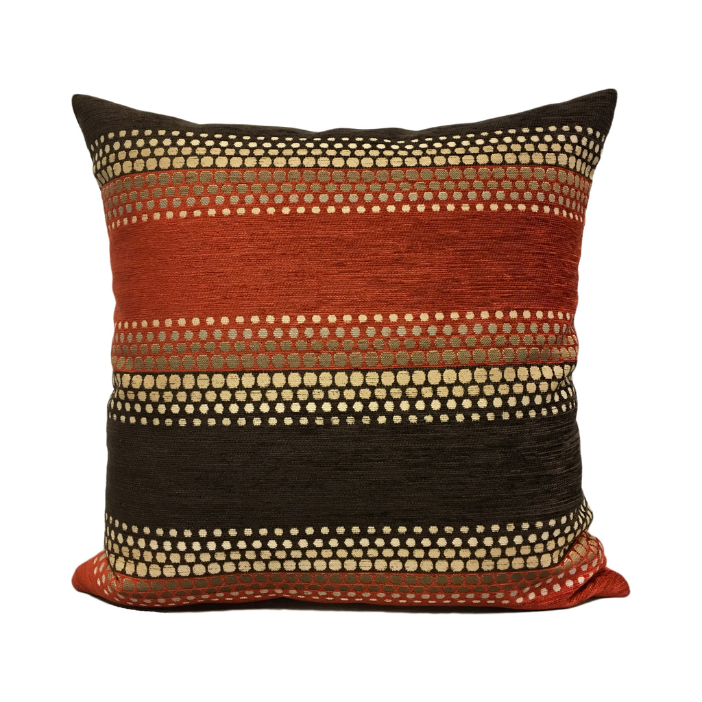 Reaction Clay Orange Throw Pillow 20x20""